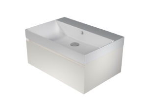 Catalano Zero+ 75 Basin with Integrated Cabinet – White