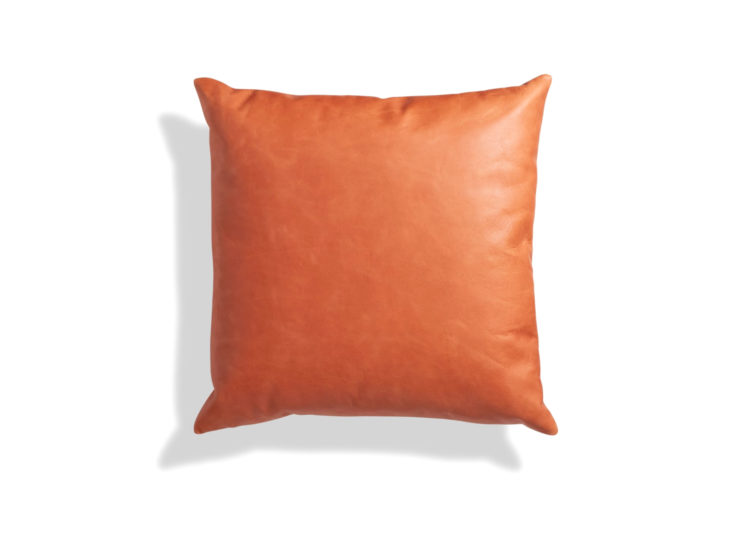 Signal Square Leather Pillow
