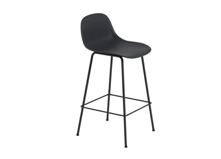 est living muuto fiber stool with backrest tube base 750x540