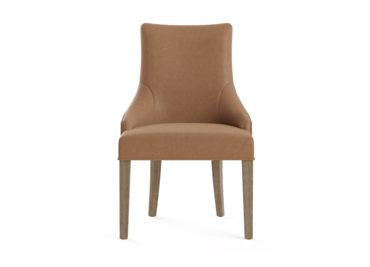 est living brosa zoe leather scoop back dining chair 750x540