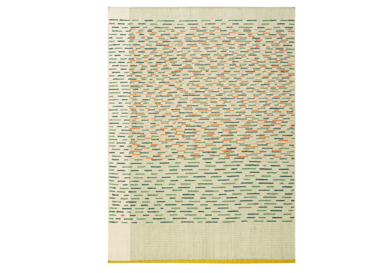 GAN Handloom Backstitch Busy Rug