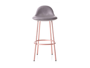 BassamFellows Pebble Padded Bar Stool