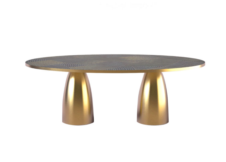 Bethan Gray Lustre Oval Dining Table