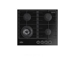 Belling 60cm Black Gas-Thru-Glass Cooktop