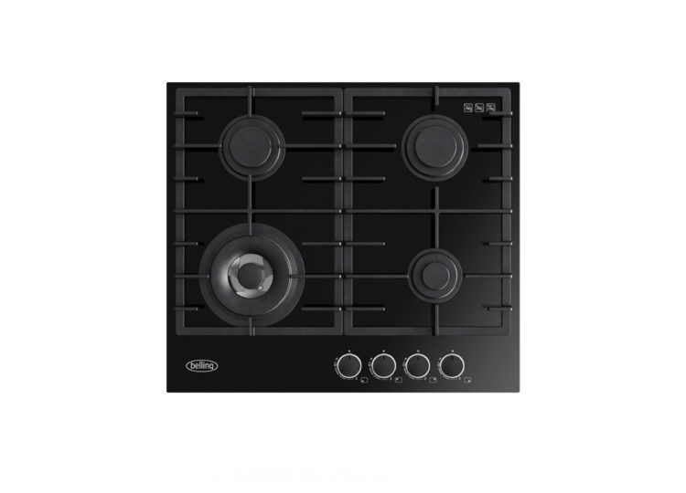 Belling 60cm Black Gas-Thru-Glass Cooktop
