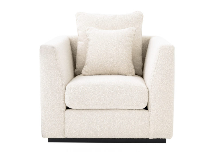 James Said Taylor Boucle Cream Chair