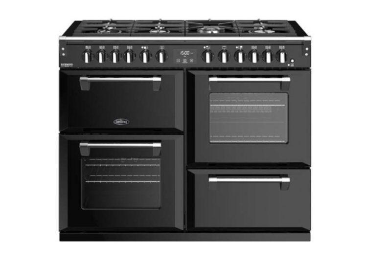 est living belling richmond deluxe 110cm dual fuel range cooker black 750x540