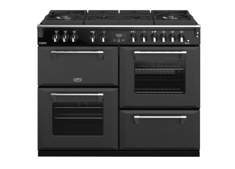 est living belling richmond deluxe 110cm dual fuel range cooker graphite 750x540