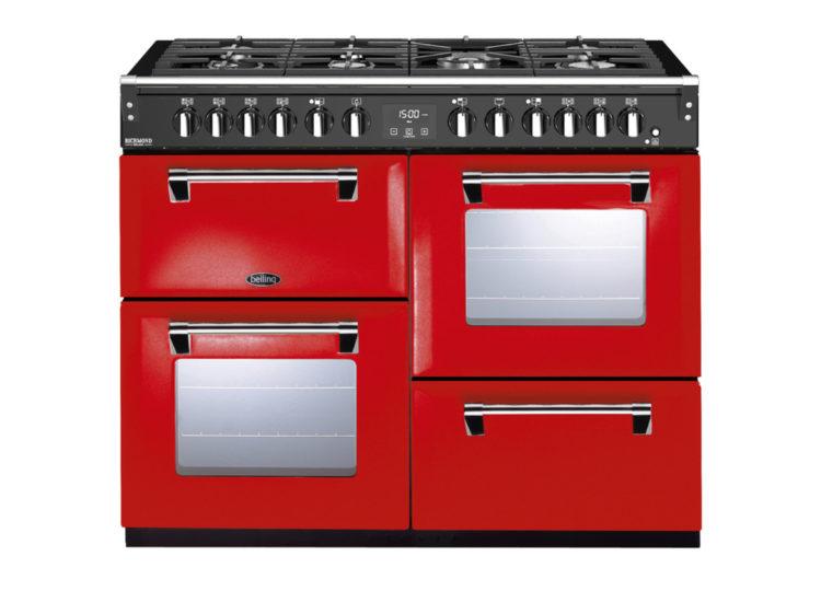 est living belling richmond deluxe 110cm dual fuel range cooker red 750x540