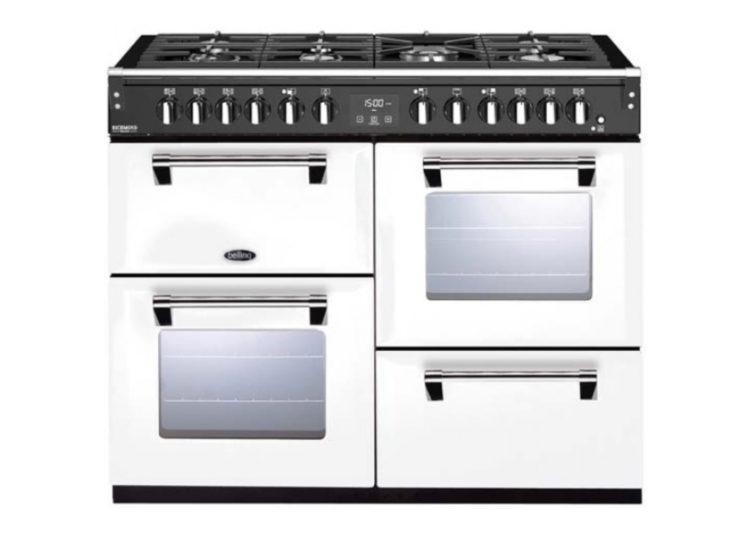 est living belling richmond deluxe 110cm dual fuel range cooker white 750x540