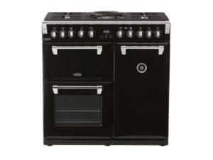 Belling Richmond Deluxe 90cm Dual Fuel Range Cooker – Black