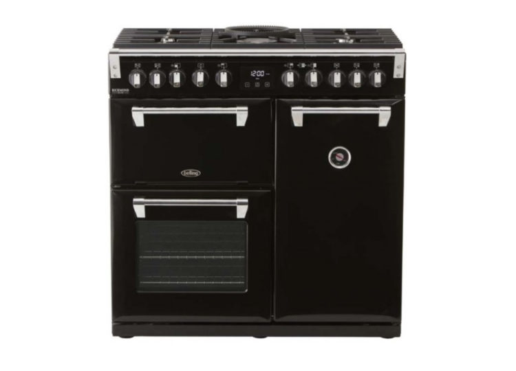 Belling Richmond Deluxe 90cm Dual Fuel Range Cooker – Black
