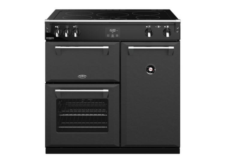 est living belling richmond deluxe 90cm induction range cooker graphite 750x540