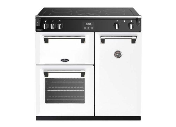 est living belling richmond deluxe 90cm induction range cooker white 750x540