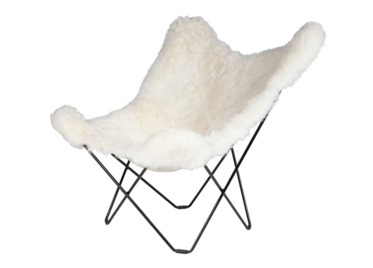 Cuero Sheepskin Butterfly Lounge Chair