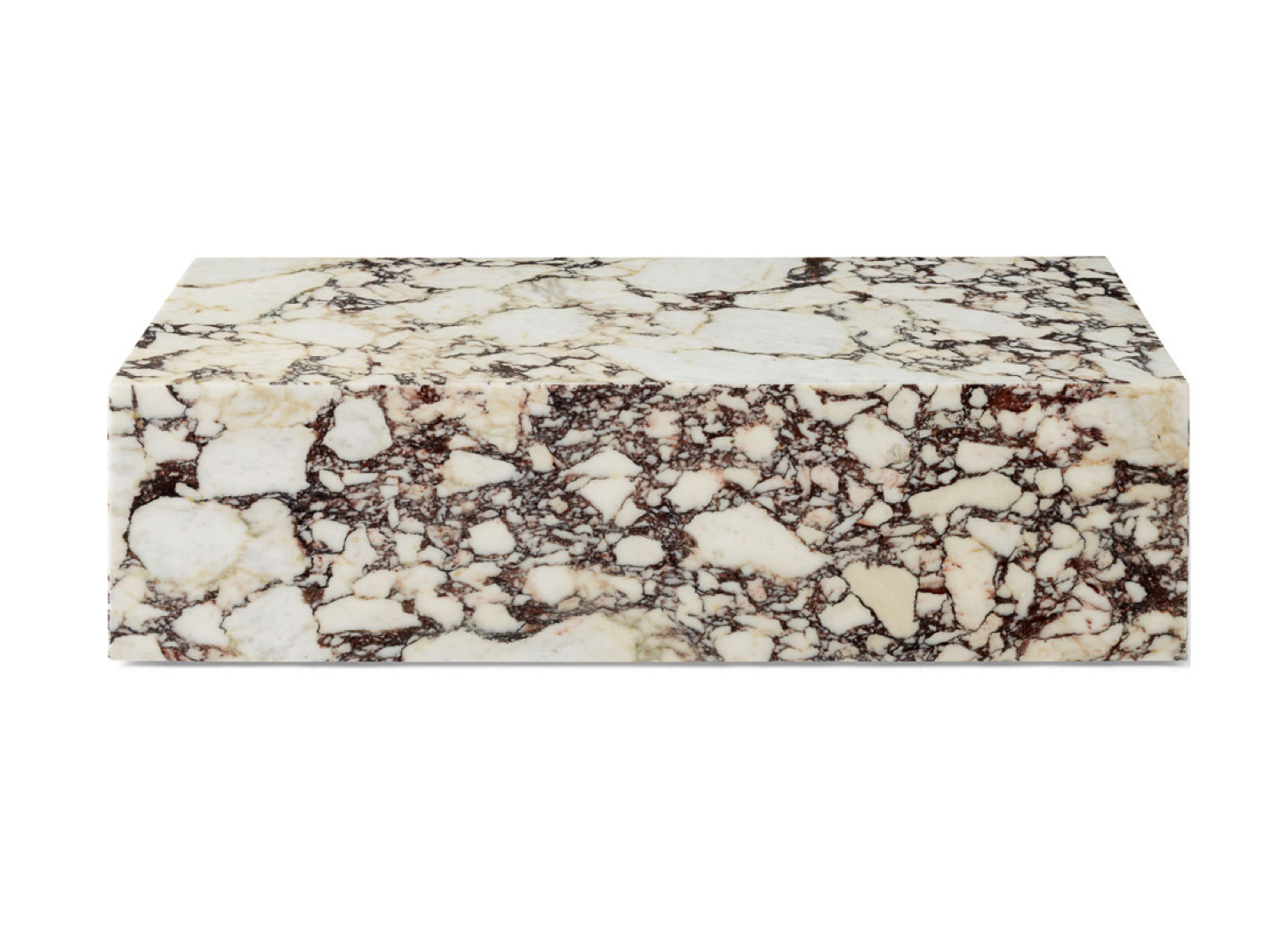 est living menu low rose marble plinth