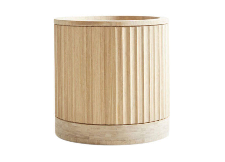 Pleat Bamboo Planter – Round