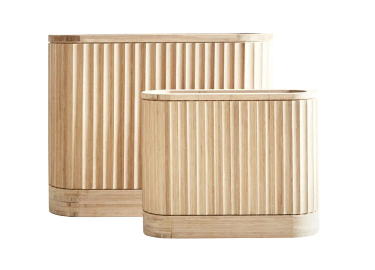 Pleat Bamboo Planter – Trough