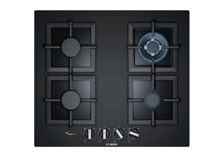 Bosch Series | 6 Gas Cooktop 60cm Hard Glass Black
