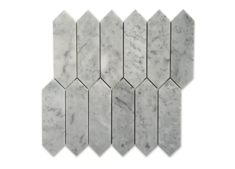 Bianco Carrara Medium Picket Mosaic