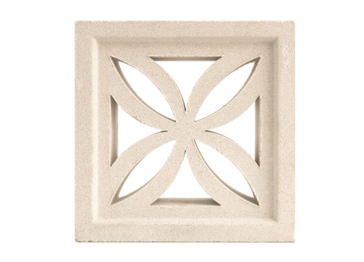 Breeze Block Flower White