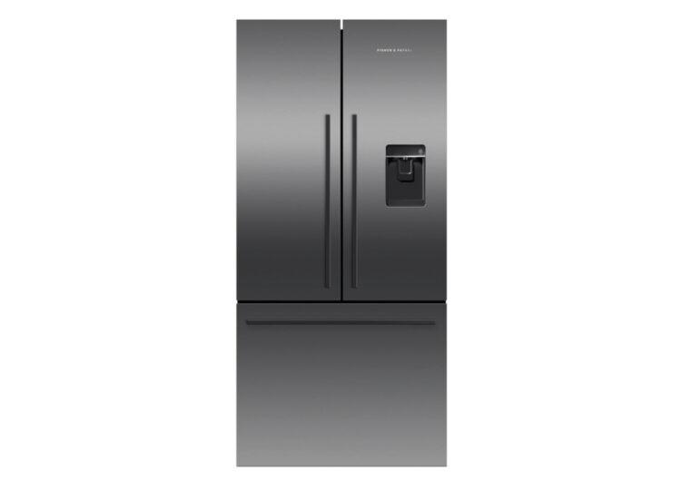 Fisher & Paykel Series 7 | 79cm French Door Refrigerator Freezer – Ice & Water (Black Stainless Steel)