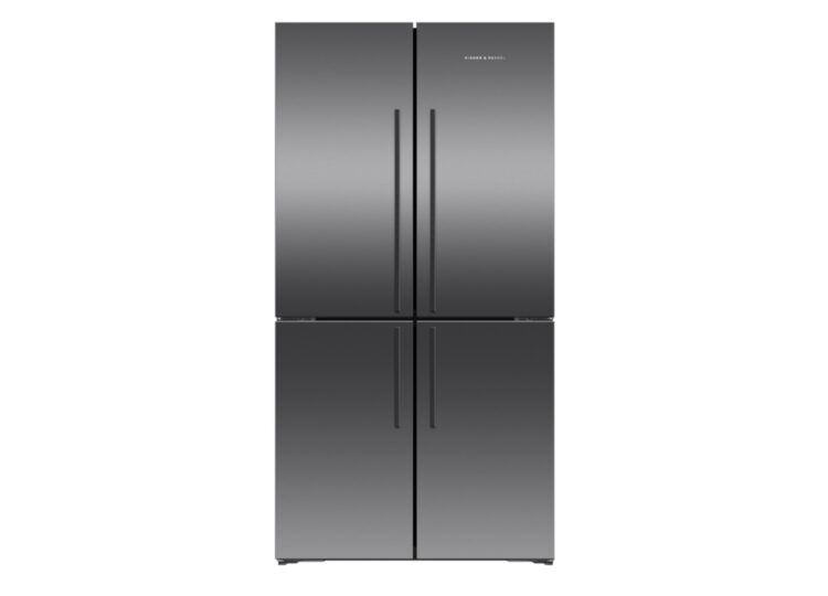 Fisher & Paykel Series 7 | 90.5cm Quad Door Refrigerator Freezer (Black Stainless Steel)