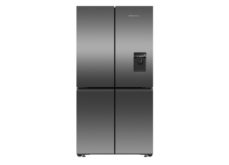 Fisher & Paykel Series 7 | 90.5cm Quad Door Refrigerator Freezer – Ice & Water (Black Stainless Steel)