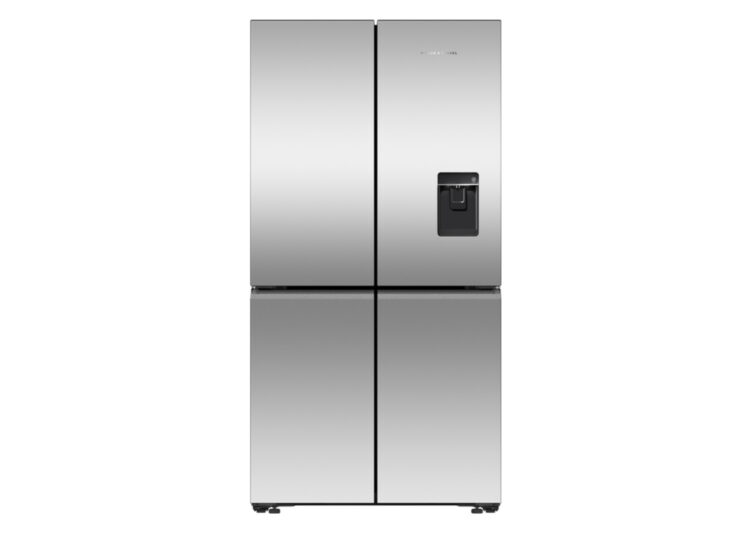 Fisher & Paykel Series 7 | 90.5cm Quad Door Refrigerator Freezer – Ice & Water (Stainless Steel)