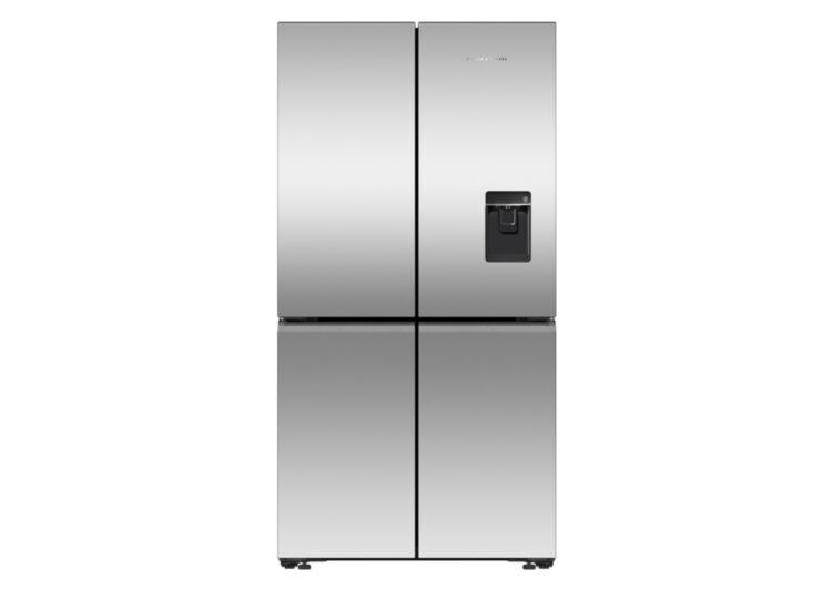 Fisher & Paykel Series 7 | 90.5cm Quad Door Refrigerator Freezer – Ice & Water (Stainless Steel)