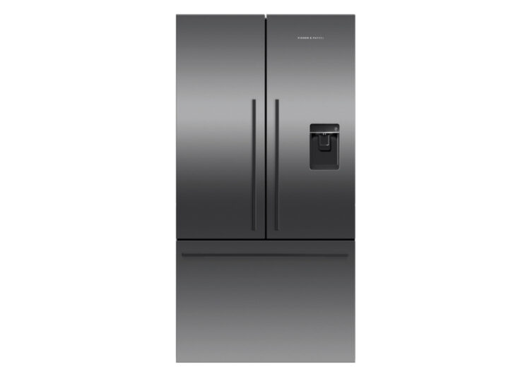 Fisher & Paykel Series 7 | 90cm French Door Refrigerator Freezer – Ice & Water (Black Stainless Steel)