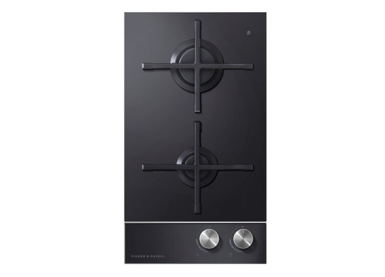 Fisher & Paykel Series 9 | Contemporary 30cm Gas on Glass Cooktop – 2 Burner