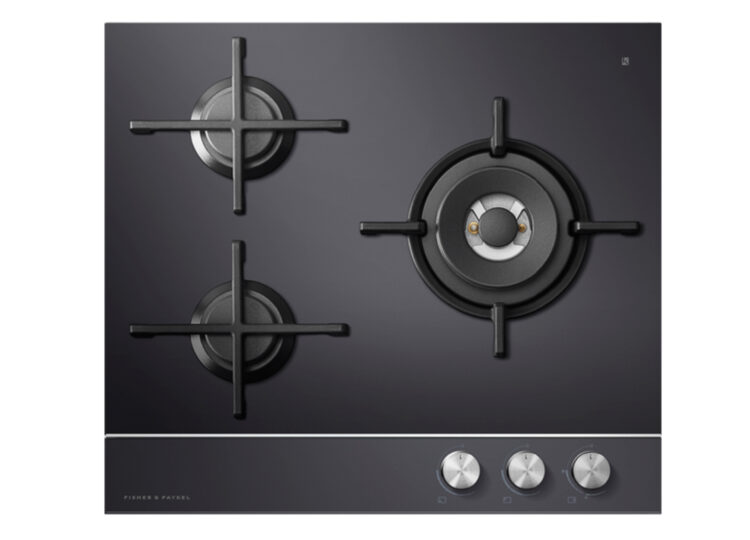Fisher & Paykel Series 9 | Contemporary 60cm Gas on Glass Cooktop – 3 Burner