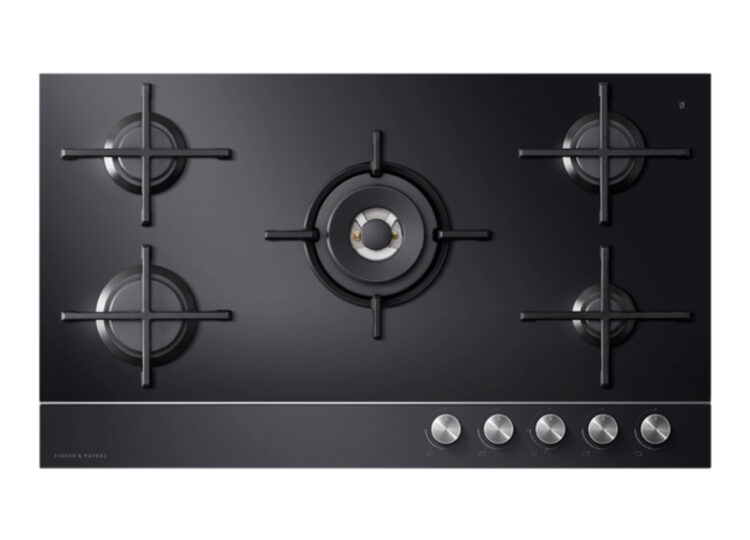 Fisher & Paykel Series 9 | Contemporary 90cm Gas on Glass Cooktop – 5 Burner