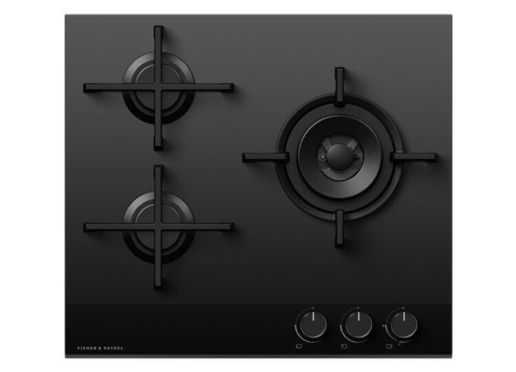 Fisher & Paykel Series 9 | Minimal 60cm Gas on Glass Cooktop – 3 Burner