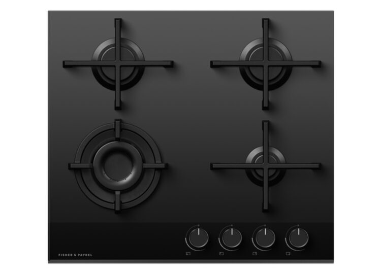 Fisher & Paykel Series 9 | Minimal 60cm Gas on Glass Cooktop – 4 Burner