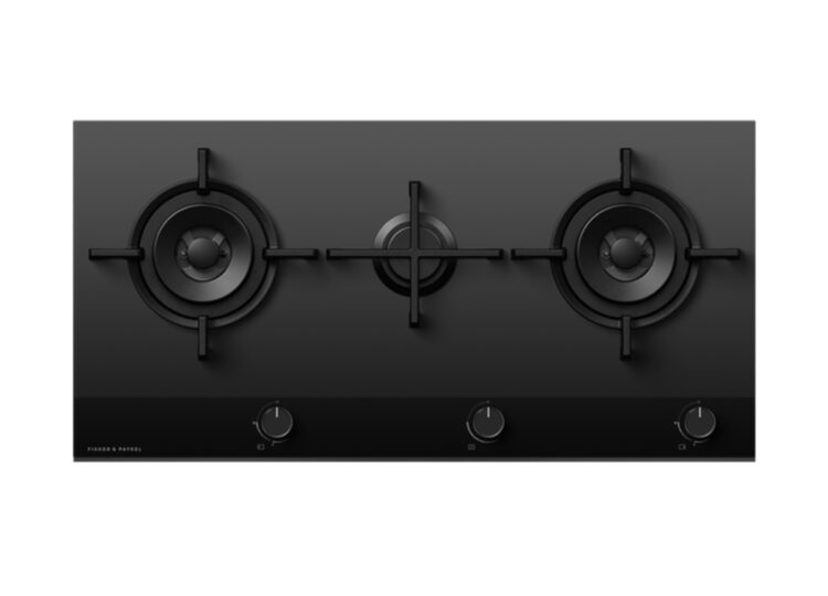 Fisher & Paykel Series 9   Minimal 90cm Gas on Glass Cooktop – 3 Burner