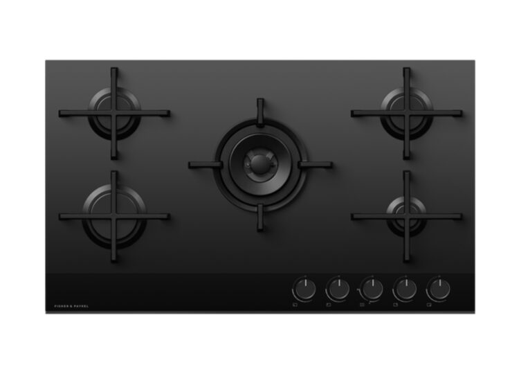 Fisher & Paykel Series 9 | Minimal 90cm Gas on Glass Cooktop – 5 Burner