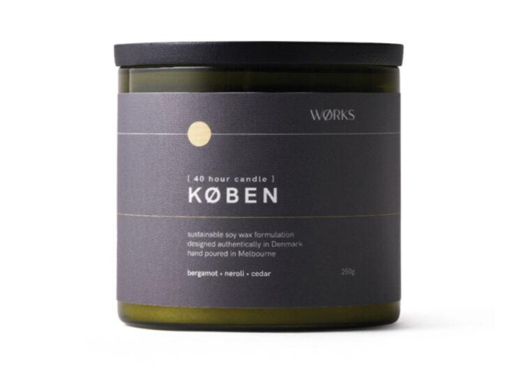 KØBEN Candle | Bergamot, Neroli, Cedar by WØRKS