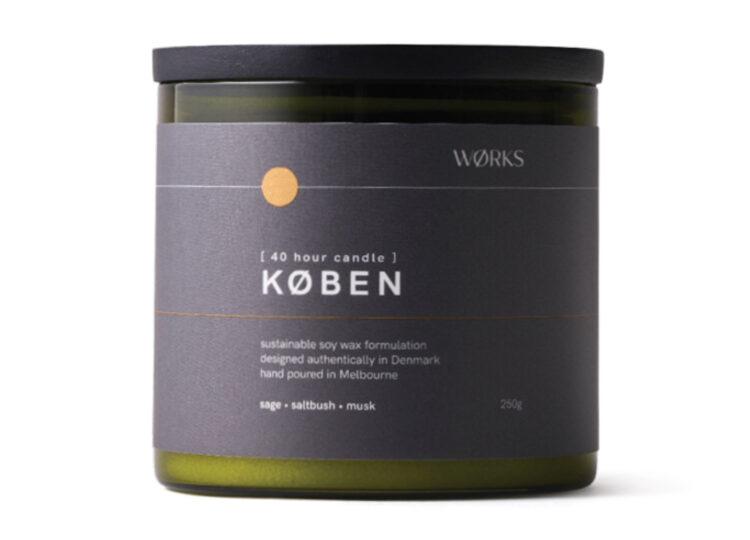 KØBEN Candle | Sage, Saltbush, Musk by WØRKS