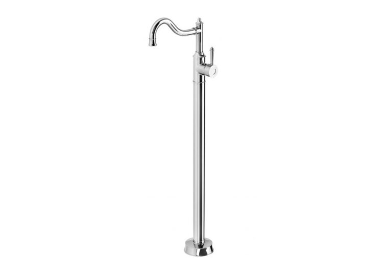 Nostalgia Floor Mounted Bath Mixer Shepherds Crook
