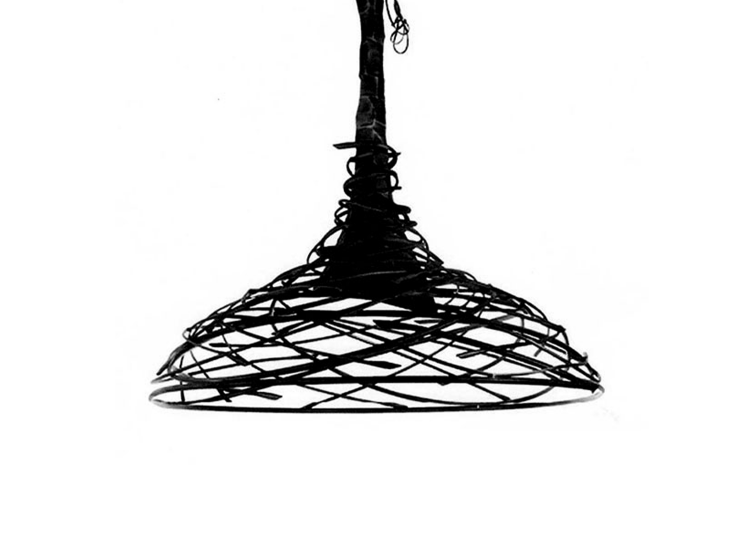 Industria Forged Swirl Salakot Hanging Pendant Lamp