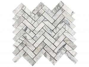 Pietra Stone Gallery Bianco Cielo Mosaic – Herringbone