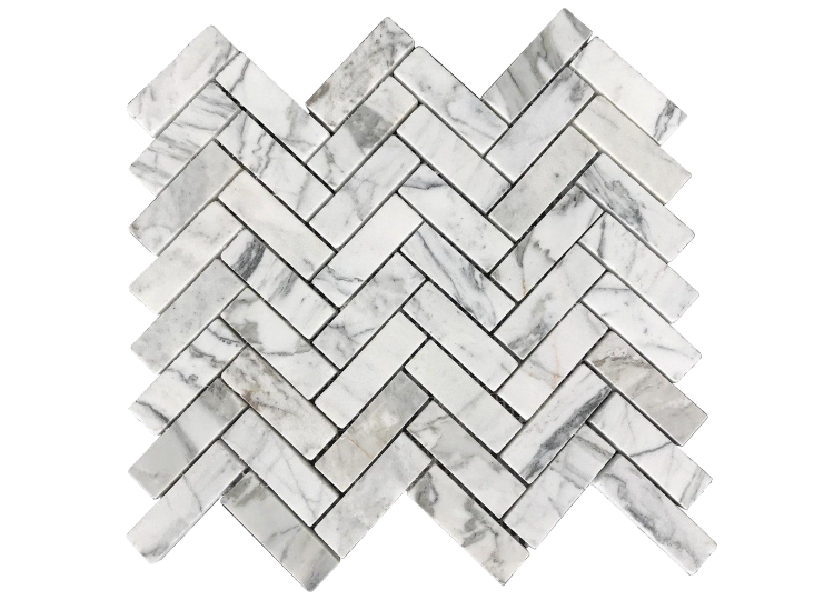 est living Pietra Stone Gallery Bianco Cielo Mosaic Herringbone 01 750x540