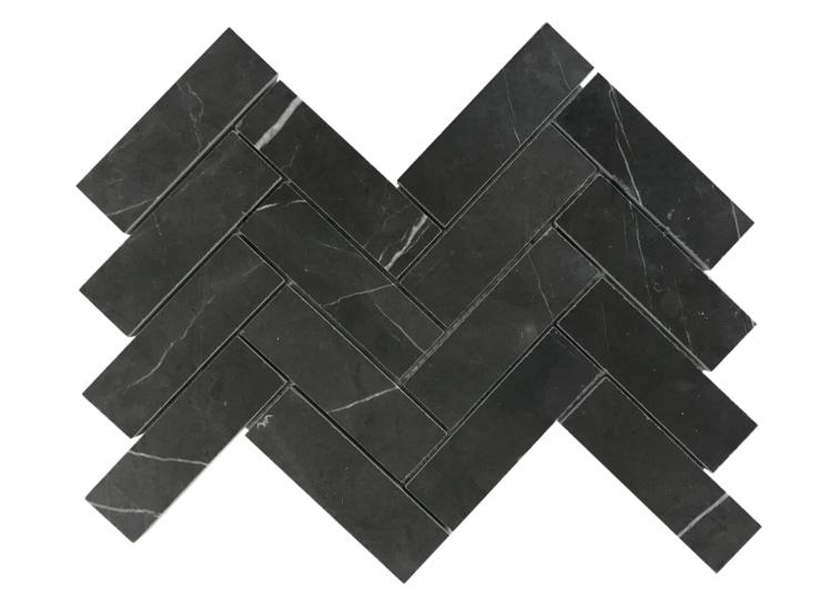 Pietra Stone Gallery Pietra Grey – Herringbone Mosaic