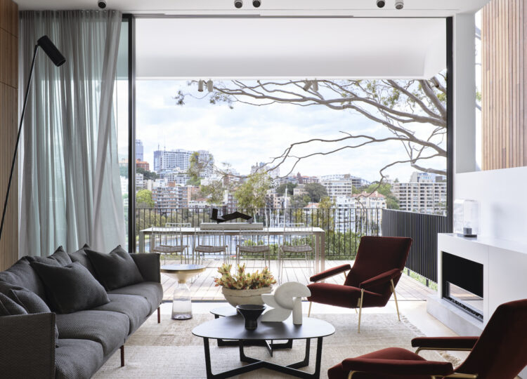 Living 1 | Darling Point Terrace Living Room by Stafford Architecture