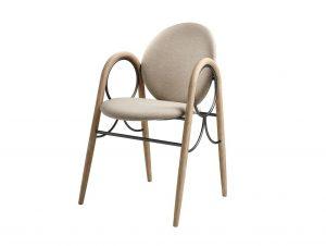 BRDR Krüger Arkade Dining Chair Upholstered