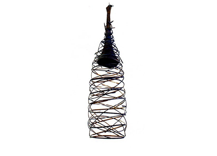 Industria Forged Swirl Cocoon Hanging Pendant Lamp