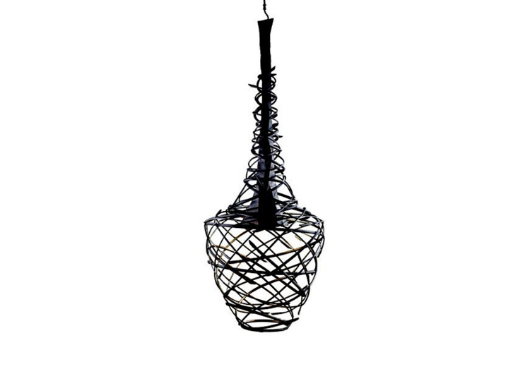 Industria Forged Swirl Long Turban Hanging Pendant Lamp