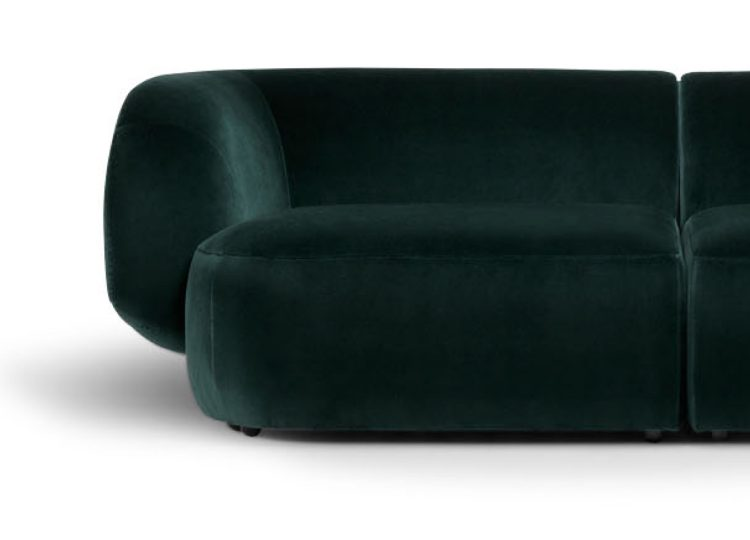 Biasol Comoda 2 Piece Modular Sofa (Velvet)